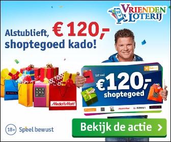 Ontvang €120 shoptegoed bij de Vriendenloterij